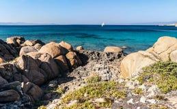 Spiaggia Rena Di Ponente - Sardinia italy Arkivbild