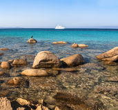 Spiaggia Rena Di Ponente - Sardinia italy Arkivfoton