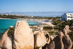 Spiaggia Rena Di Ponente - Sardinia italy Royaltyfri Fotografi