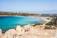Spiaggia Rena Di Ponente - Sardinia italy Arkivbilder
