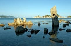 Spiaggia, resto, libertà immagini stock libere da diritti