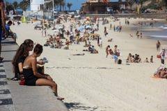 Spiaggia in Rio de Janeiro Immagini Stock Libere da Diritti