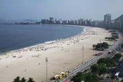 Spiaggia Rio de Janeiro Brasile di Copacabana Immagine Stock Libera da Diritti