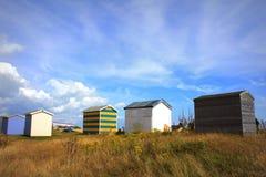 Spiaggia Risonanza Regno Unito di Littlestone delle capanne della spiaggia Immagini Stock