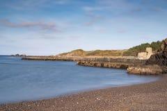 Spiaggia & riviera all'ayrshire del sud Scozia di Dunure Fotografia Stock Libera da Diritti