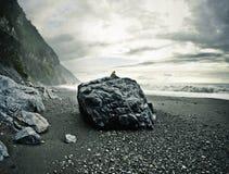 Spiaggia rocciosa Immagini Stock Libere da Diritti