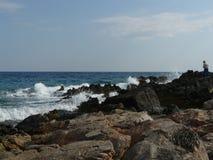 Spiaggia rocciosa Fotografie Stock