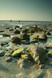 Spiaggia rocciosa Fotografia Stock