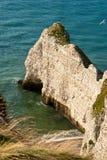 Spiaggia rocciosa in Normandia, Francia Fotografie Stock Libere da Diritti