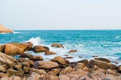 Spiaggia rocciosa a Shek-O Hong Kong Immagine Stock