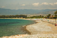 Spiaggia rocciosa sterile. Immagini Stock Libere da Diritti