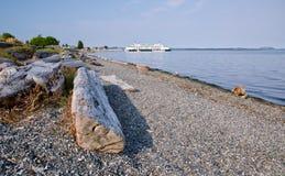 Spiaggia rocciosa sulla costa ovest del Canada Fotografia Stock Libera da Diritti