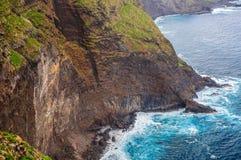 Spiaggia rocciosa in Tenerife, isole Canarie Fotografia Stock