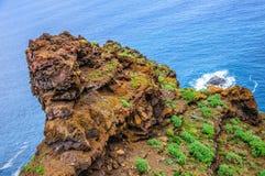 Spiaggia rocciosa in Tenerife, isole Canarie Immagine Stock Libera da Diritti