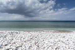 Spiaggia Rodi di Ialysos Fotografia Stock Libera da Diritti