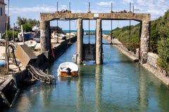 Spiaggia Romana巴科利Torregaveta 免版税库存图片