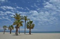 Spiaggia in Roquetas de marzo Fotografia Stock