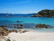 Spiaggia Rosa en Sardegna Imágenes de archivo libres de regalías
