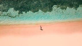 Spiaggia rosa Lombok immagini stock libere da diritti