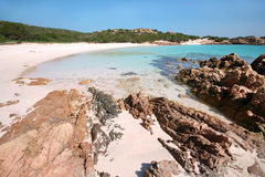Spiaggia Rosa (Pink Beach). An image of Isola di Budelli Spiaggia Rosa (Pink Beach Stock Photo