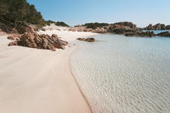 Spiaggia Rosa (Pink Beach). An image of Isola di Budelli Spiaggia Rosa (Pink Beach royalty free stock photos