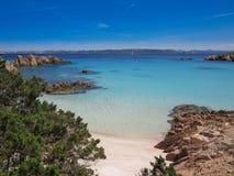 Spiaggia Rosa in Sardegna. Pink Sand beach in Sardinia Italy royalty free stock photo