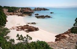 Spiaggia Rosa (spiaggia rosa) Immagini Stock Libere da Diritti