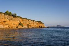 Spiaggia rossa dei alonissos, Grecia del castello Fotografia Stock Libera da Diritti