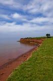 Spiaggia rossa della sabbia Fotografie Stock Libere da Diritti