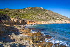 Stunning South coast of Sardinia, Italy. Royalty Free Stock Images
