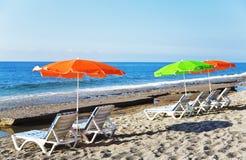 Spiaggia sabbiosa Fotografia Stock Libera da Diritti