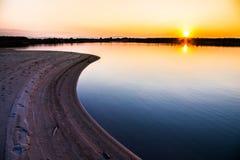 Spiaggia sabbiosa Fotografie Stock