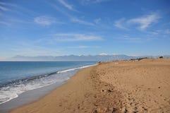 Spiaggia sabbiosa a Adalia Fotografie Stock Libere da Diritti