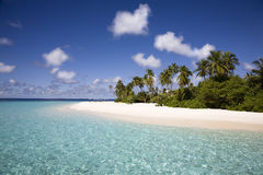 Spiaggia sabbiosa bianca Fotografia Stock