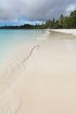 Spiaggia sabbiosa bianca del deserto Immagini Stock Libere da Diritti