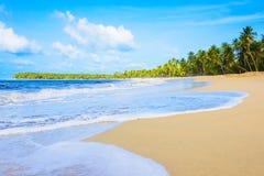 Spiaggia sabbiosa del mare Fotografia Stock