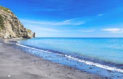 Spiaggia sabbiosa dell'oceano Fotografia Stock Libera da Diritti