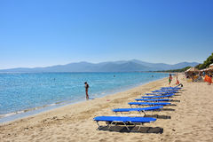 Spiaggia sabbiosa di Schinias, maratona, Grecia Fotografia Stock