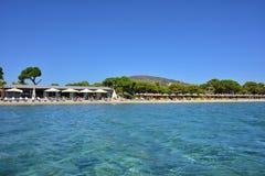 Spiaggia sabbiosa di Schinias, maratona, Grecia Fotografie Stock