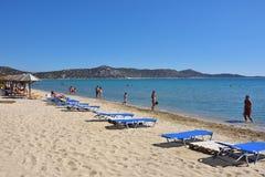 Spiaggia sabbiosa di Schinias, maratona, Grecia Fotografia Stock Libera da Diritti