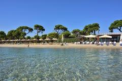 Spiaggia sabbiosa di Schinias, maratona, Grecia Immagini Stock