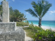 Spiaggia sabbiosa HopeTown, Abacos, Bahamas fotografia stock libera da diritti