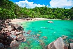 Spiaggia sabbiosa, Khao Lak, Tailandia Immagini Stock
