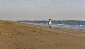 Spiaggia sabbiosa lunga di lido, Italia Fotografia Stock Libera da Diritti