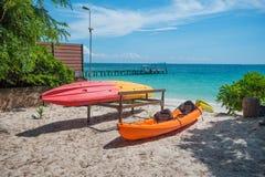 Spiaggia sabbiosa nell'isola tailandese Ko Samet Fotografie Stock