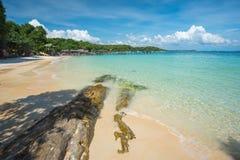 Spiaggia sabbiosa nell'isola tailandese Ko Samet Fotografia Stock