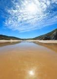 Spiaggia sabbiosa, Portogallo Immagini Stock