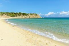 Spiaggia sabbiosa vuota Fotografie Stock Libere da Diritti