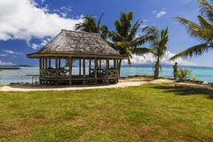 Spiaggia samoana Fale Immagine Stock Libera da Diritti