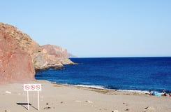 Spiaggia a San Carlo, sonora, Messico Immagini Stock